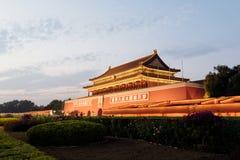 天堂般的和平Tienanmen门在北京,中国 免版税库存照片