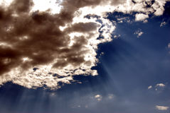 天堂般的天空 免版税库存图片