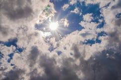 天堂般的太阳爆炸 免版税库存图片