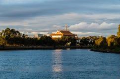 天堂般的女王佛教寺庙在Footscray,澳大利亚 免版税库存图片