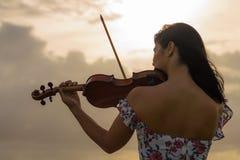 天堂般的小提琴 免版税库存图片
