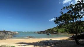 天堂般的海滩 库存图片
