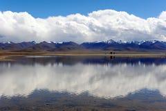天堂般的湖 图库摄影