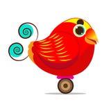 天堂鸟国王鸟逗人喜爱的动画片摘要 库存图片