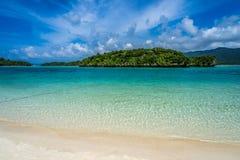 天堂Kabira海滩  库存照片