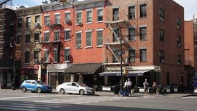 天外部典型的事务和公寓在曼哈顿 影视素材