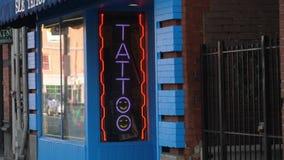 天外部建立的射击城市纹身花刺客厅 股票视频