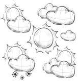 天天气汇集 库存照片