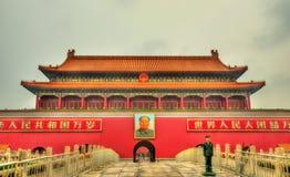 天安门,天堂般的和平门在北京,中国 库存图片