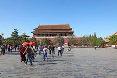 天安门,子午门,北京,中国 免版税库存图片