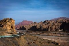 天山大峡谷全国地质公园 库存图片
