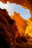 天山大峡谷全国地质公园 免版税库存图片