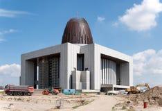 天意寺庙在华沙,波兰,在修建下 库存照片