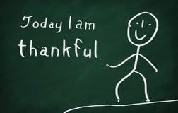 今天我是感激的 库存照片