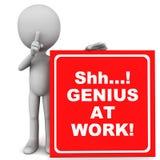 天才在工作 向量例证