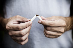 今天抽烟的Quit! 图库摄影