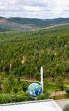天文公园和天文馆,在小山的集合在自然中间 库存图片
