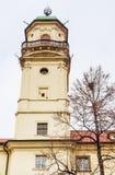 天文学塔在克莱门特学院Klementinum Klementinum 库存图片
