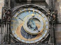 天文学时钟在布拉格在捷克 免版税库存图片