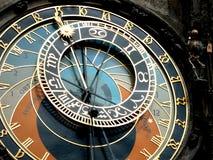 天文学时钟在布拉格 库存照片