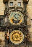 天文学时钟在布拉格 图库摄影