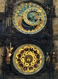 天文学时钟在普拉哈,捷克 图库摄影