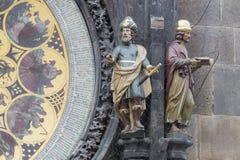 天文学时钟布拉格 免版税库存图片