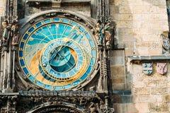 天文学时钟捷克布拉格共和国 关闭照片 库存图片