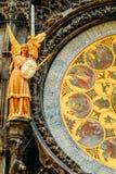 天文学时钟捷克布拉格共和国 关闭照片 免版税图库摄影