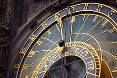 天文学时钟的细节在布拉格 免版税图库摄影