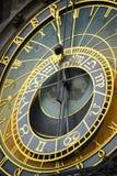 天文学时钟的细节在布拉格 免版税库存照片