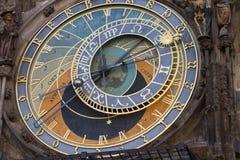 天文学时钟老城镇厅塔,布拉格 库存照片