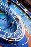 天文学时钟详细资料布拉格 库存照片