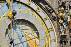 天文学时钟,布拉格:特写镜头 免版税库存照片