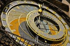 天文学时钟,布拉格:特写镜头 库存图片