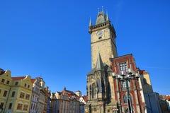 天文学时钟,老城镇厅,布拉格,捷克 库存照片