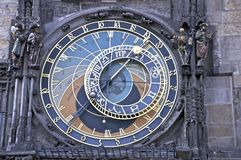 天文学时钟prag 库存照片