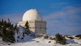 天文学观测所,望远镜在波斯尼亚,山Jahorina 库存图片