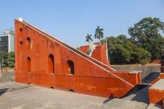天文学观测所Jantar Mantar在德里 免版税图库摄影