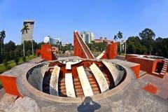 天文学观测所Jantar Mantar在德里 图库摄影