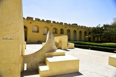 天文学观测所Jantar Mantar,印度 免版税库存图片