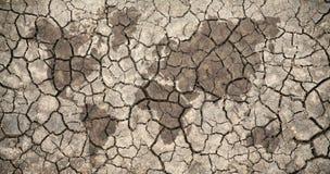 天旱世界地图 免版税图库摄影