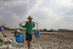 天旱在印度尼西亚 库存图片
