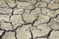 天旱,地面崩裂,没有热水,缺乏湿气 免版税库存图片