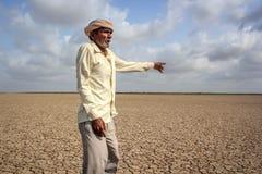 天旱-印度 库存图片