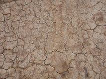 天旱破裂的黏土地面 免版税库存图片