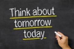 今天明天认为 免版税库存照片