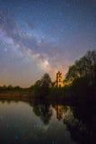 满天星斗横向的晚上 免版税图库摄影