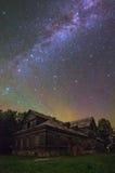 满天星斗横向的晚上 库存照片