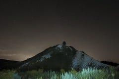 满天星斗横向的晚上 免版税库存照片